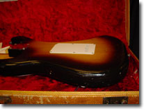 56 Strat Body Side View