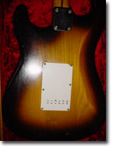 1956 Fender Stratocaster Back Of Body