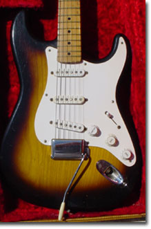 The full body of our 1956 Fender Stratocaster