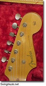 1956 Fender Stratocaster head stock