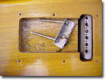 Date under the springs on the back of the guitar dated 4-56