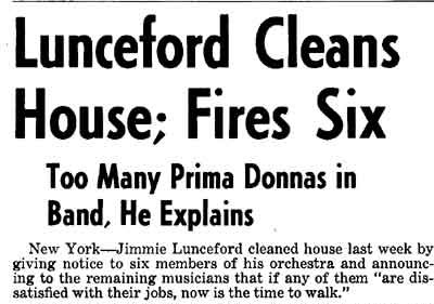 Jimmie Lunceford Downbeat Magazine Article