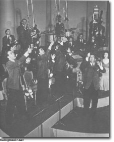 Glenn Miller copies the Jimmie Lunceford showmanship